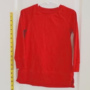 Primary Red tunic long sleeve tee
